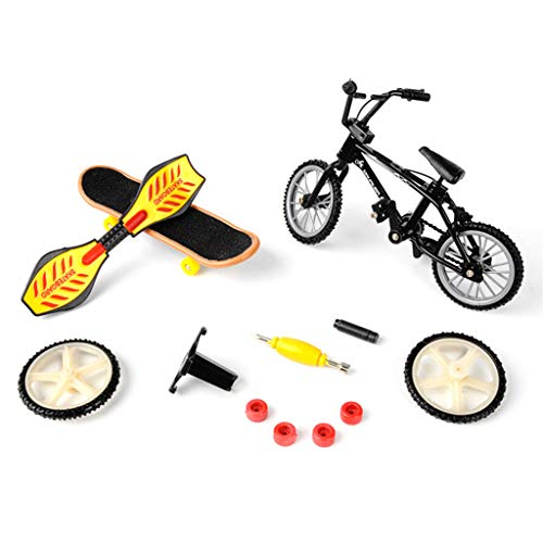 BAIRU Mini-Finger-Fahrrad-Sport-Set, Fahrrad-Griffbrett, kreatives Spiel, Skateboard, Kinder, Spielzeug, Geschenke