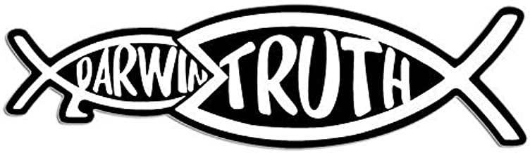 MAGNET Christian Truth Eating Darwin Fish Shaped Magnetic Sticker (jesus christ)