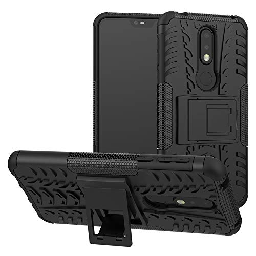 Labanema Nokia 7.1 2018 Hülle, Abdeckung Cover schutzhülle Tough Strong Rugged Shock Proof Heavy Duty Case Für Nokia 7.1 2018 - Schwarz