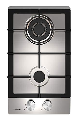 PLACA DE GAS GAS-IX02 INFINITON (Ancho 30cm, 2 Fuegos, INOX, Triple corona, Encendido electronico, Limpieza facil, Seguridad termopar)