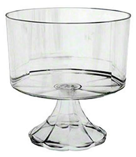 Clear Plastic Elegant Pedestal Trifle Bowl