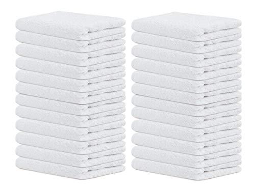 Terry Towels Salon White 24 Pack Hand Towels Set Pk 24-100% Cotton...