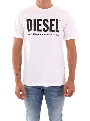 Diesel Just Logo 00SXEK 0AAXJ T-shirt voor heren ronde hals met wit logo