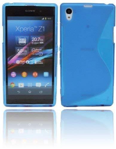 S Line TPU–Carcasa para Sony Xperia Z1Funda de silicona en azul @ Energmix