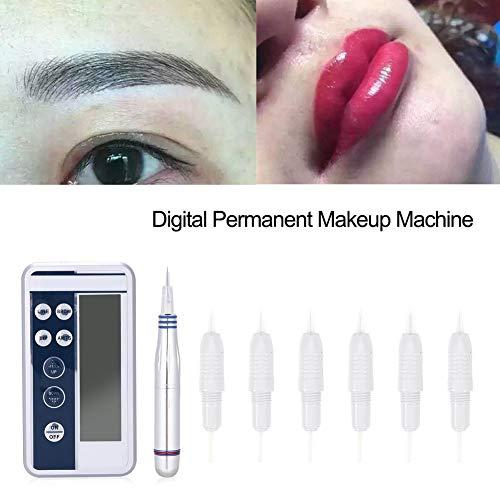 Duevin Máquina de Tatuaje de Maquillaje Dispositivo Multifuncional para Tatuaje Digital pantalla digital LCD para maquillaje permanente Kits de máquina de tatuaje Fuente (EU)