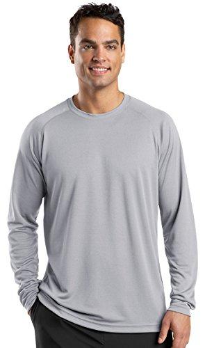 Sport-Tek® Dry Zone® Long Sleeve Raglan T-Shirt. T473LS Silver XL