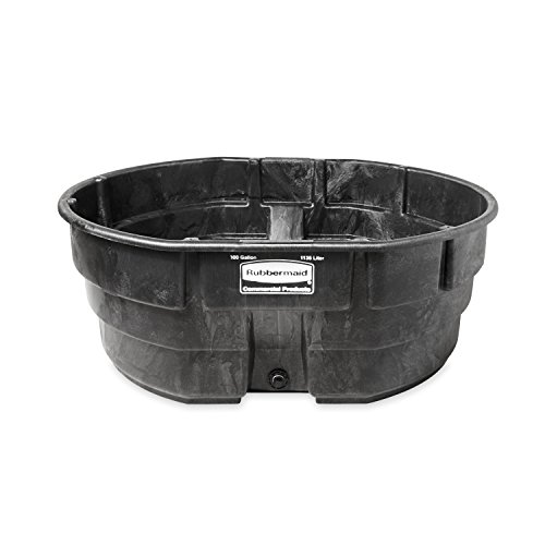 Rubbermaid Commercial Products FG424700BLA Stock Tank, Structural Foam, 300 gal, Black