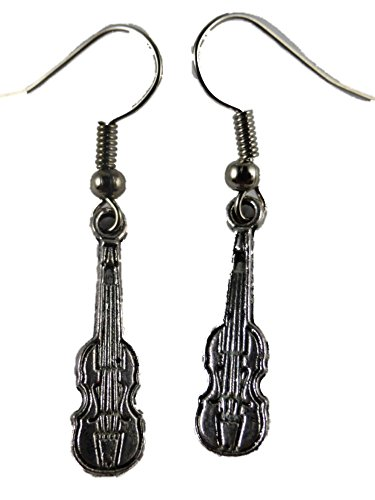 Ohrringe Ohrhänger Hänger Musik Konzert Gitarre/Geige Band Instrument 6959