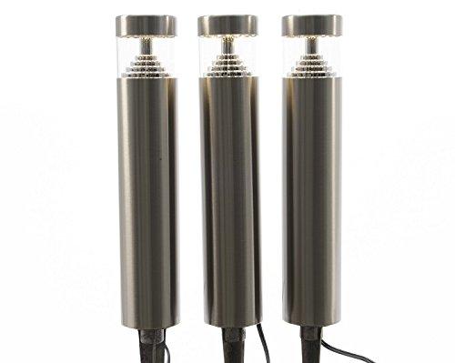 LED luz para jardín con pincho 12 V con transformador 3 baliza luminosa para jardín negro Weglampe: Amazon.es: Hogar
