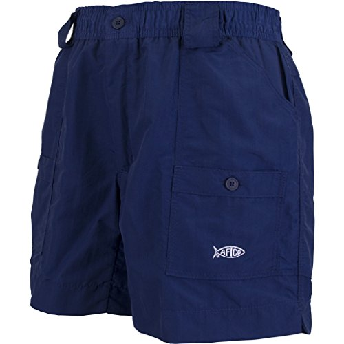 AFTCO Bluewater M01 Original Traditional Fishing Shorts - Navy Blue - 28
