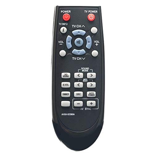 VINABTY AH59-02380A AH5902380A Reemplazo del Control Remoto para Samsung Altavoces de Cine en casa HW-D351 / EN HW-D350 HW-D350 / EN HW-D450 HW-D351 HW-D450 / EN