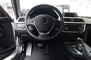 Broco 2pcs rivestimento del volante cornice del rivestimento decorativo del volante interno auto per B-M-W F20 F22 F30 F32 F10 F06 F15 F16 Modello in carbonio