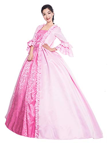 KEMAO Mythic Renaissance Mittelalter Viktorianisches Kleid Party Kostüm Maskerade Ballkleid Maskerade Kleid - - XX-Large :Höhe 67-69 Bust 46-48 Taille 39-41