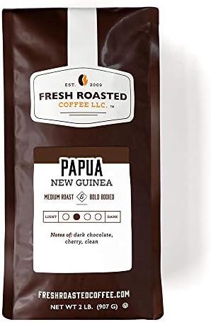 Fresh Roasted Coffee LLC Papua New Guinea Coffee Medium Roast Whole Bean 2 Pound Bag product image