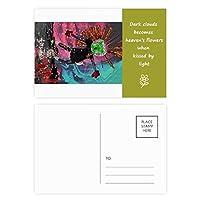 フラフラしてabstrat芸術の秋 詩のポストカードセットサンクスカード郵送側20個