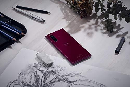 "Sony Xperia 5, 6.1"" FHD+ HDR OLED 21:9 Display,6GB RAM, 128GB Speicher, Rot [Exklusiv bei Amazon]"