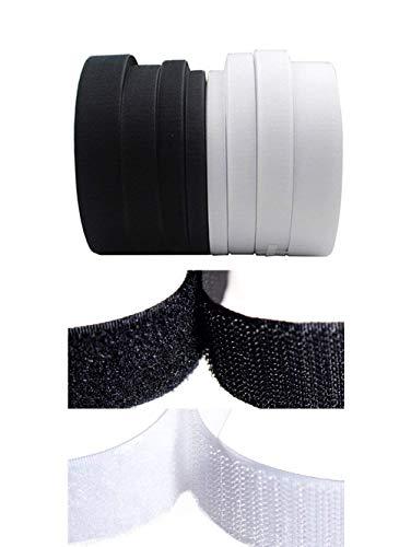 Rouleau de ruban scratch à coudre non-adhésif - Ruban magique en nylon - Outils de décoration 25MM x 2Meters Noir