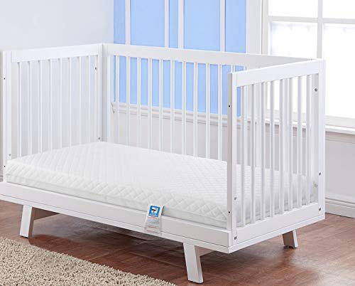 Lightweight Waterproof Eco Super Soft Quilt Easy Care Microfiber Baby Toddler Cot Bed Mattress | Breathable Extra Thick | Fits Mothercare and Mamas & Papas Sizes (120 x 60 x 13 cm)