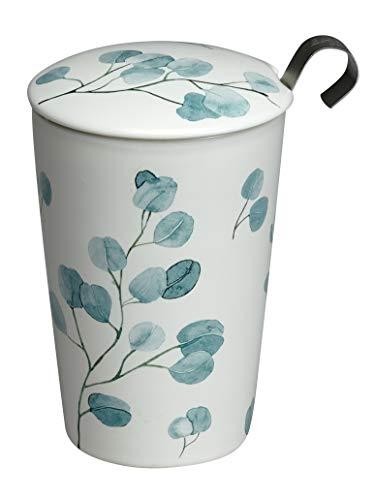Eigenart TEAEVE Teetasse, Becher mit Sieb + Deckel, Trees Eucalyptus im Geschenkkarton