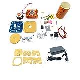 Wondiwe Mini Tesla Coil Plasma Speaker Electronics Assembly Kit Music Play DIY Toy Model