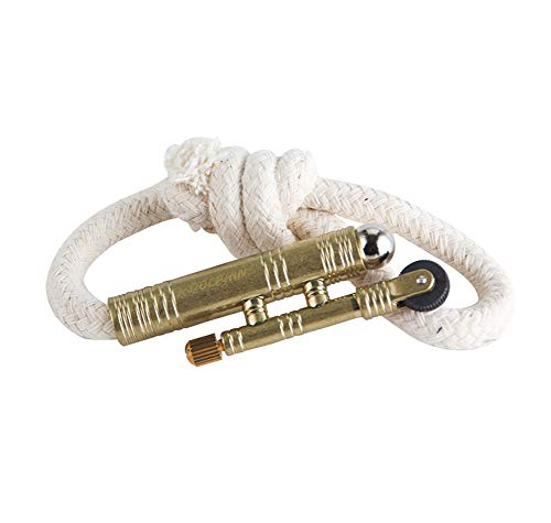 Vintage Lighter Retro Trench Rattlesnake Rope Velvet Metal Lighter Fire Starter Camping Outdoors,No Need for Kerosene/Gas,#1