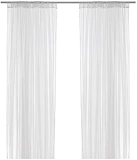 Ikea Mesh Curtains, White, 110 Inch By 98 Inch, 4 Panels