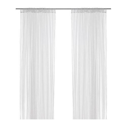 IKEAメッシュカーテン、ホワイト、110インチby 98インチ、4パネル