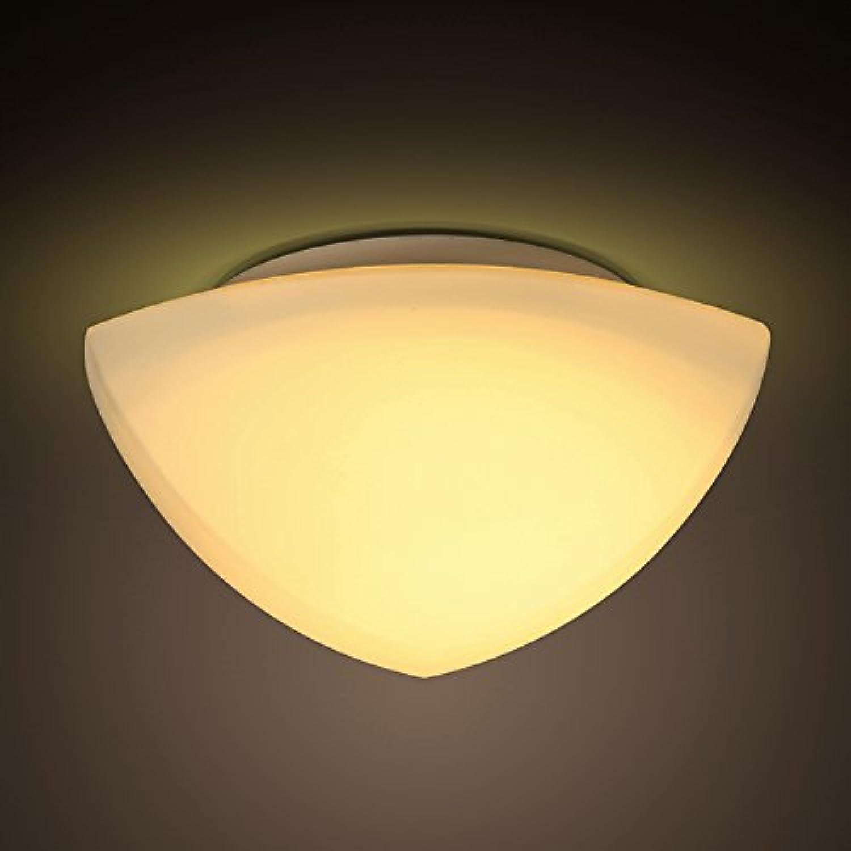 LED Deckenleuchte 12W Warmes Licht Deckenlampe Wei Acryl Deckenstrahler Dreieck Geometrisches-Design Schlafzimmerleuchte Wohnzimmerleuchte Wohnzimmerlampe LED Küchenleuchte Esszimmerleuchte 25Cm