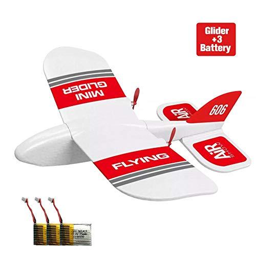 Easy-topbuy RC Segelflugzeug, KF606 2.4Ghz 2CH EPP Mini Indoor RC Segelflugzeug Flugzeug Eingebauter Kreisel RTF, Austauschbare Batteriestruktur Effizientes Aerodynamisches Konturdesign Segelflugzeug