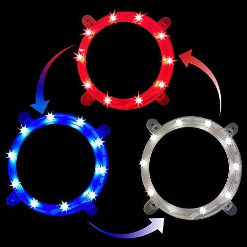 JST GAMEZ Cornhole Lights 3 Colors Change Cornhole Ring Led Lights for Hole and Board Led Cornhole product image