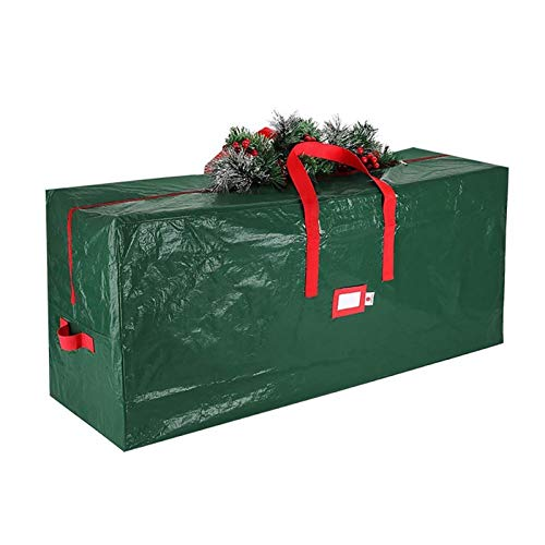 65-inch Christmas Tree Storage Bag, Reinforced Handle and Double Zipper Waterproof, Dust-Proof and Insect-Proof Packaging Christmas Tree Storage Bag (Color : Show)