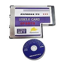 3Port Hidden Inside USB3.0 to Expresscard Express Card 54 54mm Expresscard Laptop Adapter Converter FRESCO LOGIC Chipset FL1100
