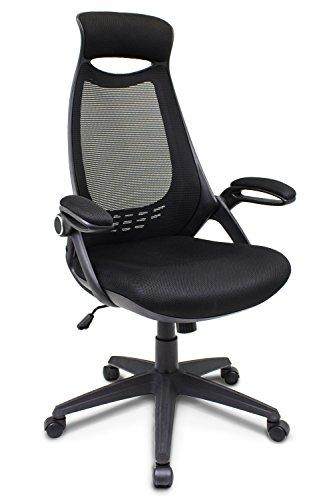 Cashoffice - Silla de Escritorio Ergonómica, Sila de Oficina Giratoria con Respaldo Transpirable Color Negro