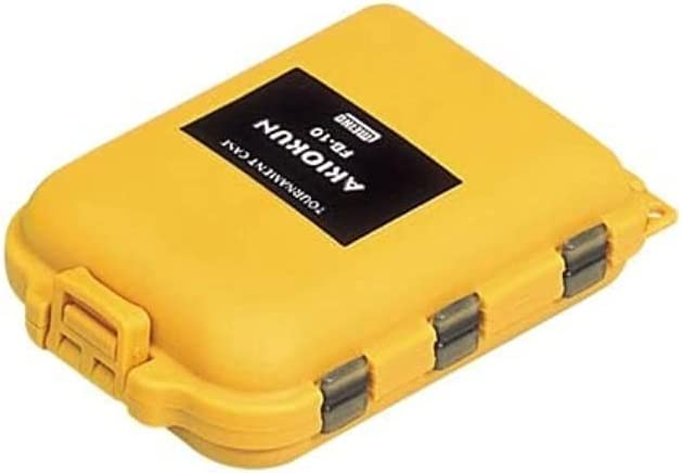 National products Meiho Ranking TOP1 Small Tackle Box Akiokun FB 10 123 30 97 x Yellow 65 mm