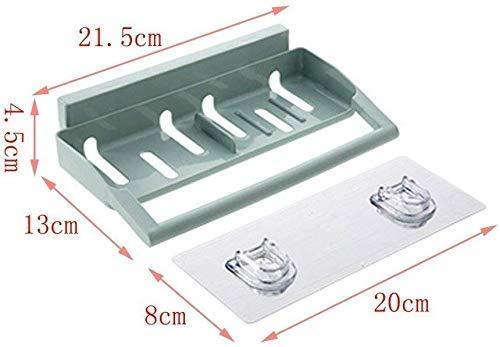 SLINGDA Badkamer plank Plastic Toilet Sinker Elegante Veelzijdige Keuken Sinker Drain Keuken Opslag Organizer Schokvrije Wandplank (Kleur: Blauw)