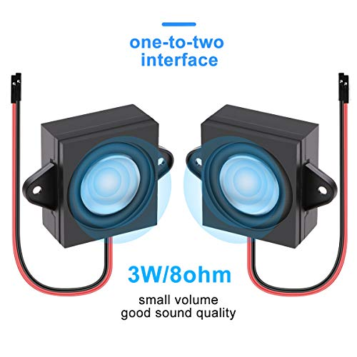 2pcs Arduino Speaker 3 Watt 8 Ohm cavità Singola Mini Speaker Full-Range Cavity Mobile Portatile Macchina pubblicitaria Connettore Speaker Separazione One-to-Two Interface 3.3 V 5 V