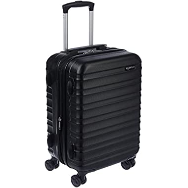 AmazonBasics Hardside Luggage 20-Inch, Black