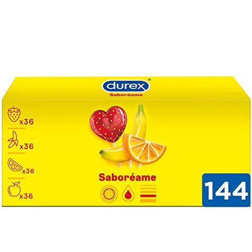 Durex Preservativos Saboreame con Sabores Afrutados - Fresa, Plátano,...