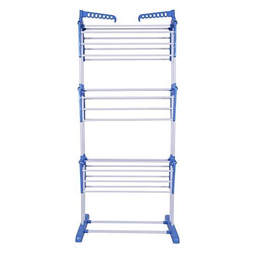 Deluxe 3 Tier Clothes Airer, Drying Rack With 2 Side Wings Portable indoor...
