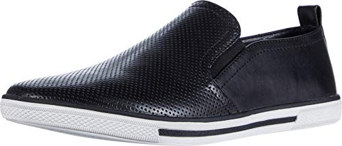 Unlisted, A Kenneth Cole Production mens Crown Slip on Sneaker, Black, 10.5 US