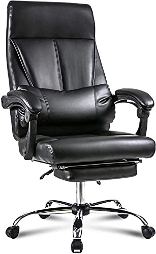 BeingHD Qualitätsbürostuhl, Bürostuhl mit Armlehne Executive Office Chair High Back Gaming Chair Computerstuhl Ergonomischer Rennstuhl Nickelstuhl