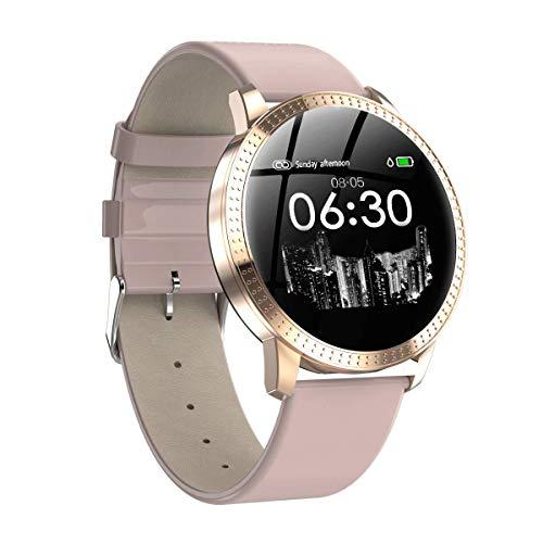 POAE Smart Armband Schlaf Smart Alarm IP68 wasserdichte Erkennung Herzfrequenz Blutdruck Unterstützung mehrsprachige Metallkörper Design einzigartiges Aussehen-Pink