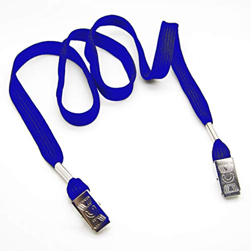 Lanyard for Your FACE MASK Easy Clip to Hang Your MASK Black/Blue Color - Pack 100 pcs (Blue (Pack of 100 pieces)) by ONDEPOT