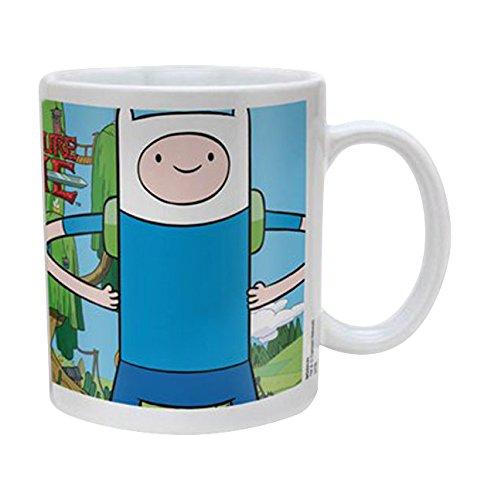 Empire Merchandising 686633 Adventure Time Finn y Jake de cerámica Taza de tamaño, diámetro 8,5 Horas 9,5 cm