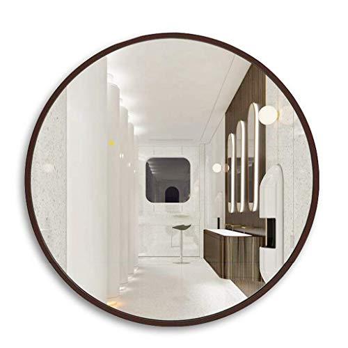 Household spiegel badkamerspiegel wandspiegel spiegel spiegel cosmeticaspiegel spiegel spiegel spiegel decoratie 80*80cm Bruin