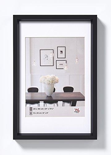 walther design, ES030W Steel Style, Kunststoff-Bilderrahmen, 20x30 cm, weiß