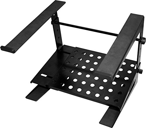 JAMSTANDS by Ultimate CJSLPT200 Standard Portable Collapsible DJ Laptop Stand with Tray - Black