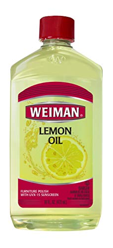 Weiman Wood Lemon Oil Wood Polish - 16 Ounce - Ultra Violet Protection, Gently Cleans, Protects, Moisturizes, Restores and Conditions Wood