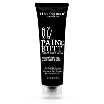 Pain in The Butt Diaper Rash Cream, 3oz, Zinc Oxide, Natural Ingredients, Petrolatum Free, Soothing, Rapid Relief and Protection for Baby, Pediatrician Approved