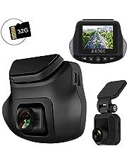 ドライブレコーダー 前後カメラ 32GB SDカード付き デュアルドライブレコーダー 1200万画素 駐車監視 車載カメラ 高画質 広角レンズ150°+150° WDR搭載 高速起動 衝撃録画 G-センサー ループ録画 リアカメラ付き 日本語説明書 一年安心保証